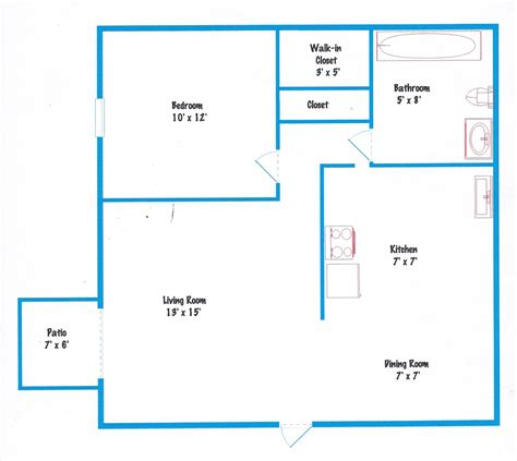 One Bedroom Floor Plan by Floor Plans And Pricing Shakertown Apartmentsshakertown