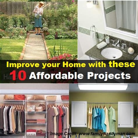 improve your home with these 10 affordable projects