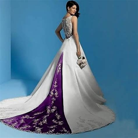 Purple Wedding Dresses Uk by White And Purple Wedding Dress Naf Dresses