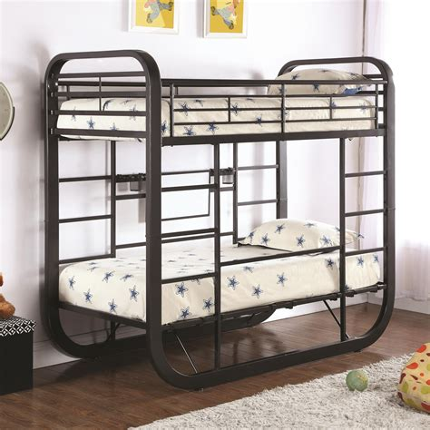 coaster archer twin workstation bunk bed  city furniture bunk beds