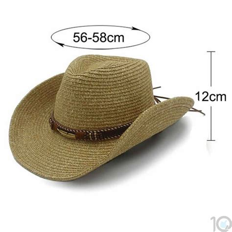 Buy Online India 10dare Cowboy Straw Hat With Native