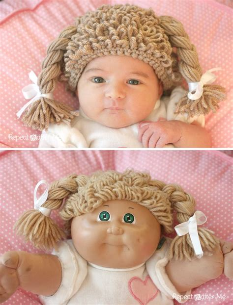 free pattern cor cabbage patch wig cabbage patch doll crochet baby wig simple halloween