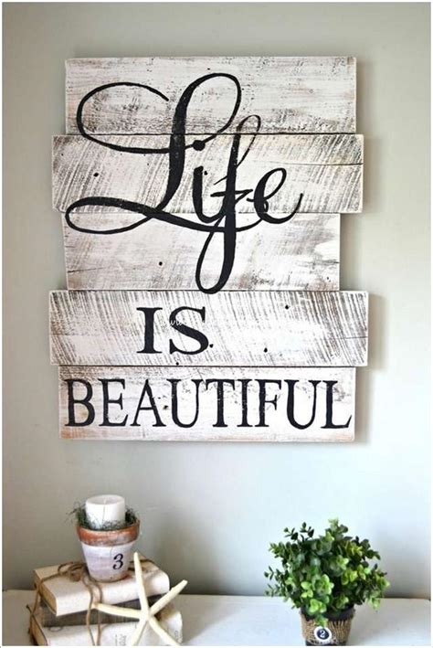 diy home decor signs diy wooden pallet wall decor recycled things