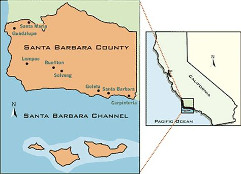 Santa Barbara County Records Air Pollution District Boundaries Santa Barbara County Air Pollution