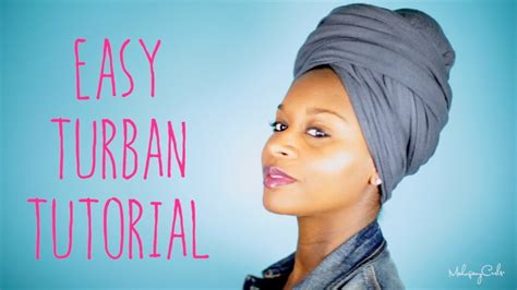 tutorial turban india natural hair easy turban tutorial doovi