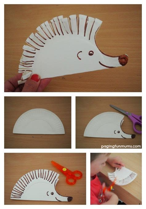 Hedgehog Paper Plate Craft - best 25 preschool cutting practice ideas on