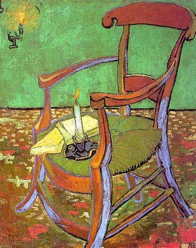 gogh sedia gauguin s sedia con i libri e la candela 1888