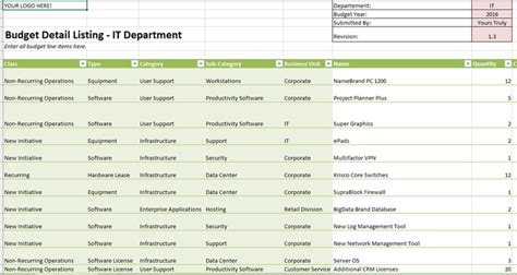 10 Excel Templates To Help Manage Your Budget Techrepublic Department Budget Template