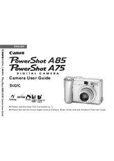 Toner A85 canon powershot a85 manuals