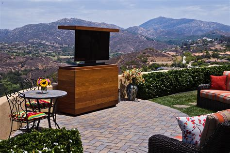 tv lift furniture hidden tv cabinet bed  tv lift