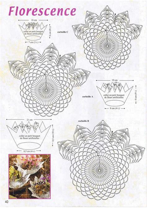 fiori all uncinetto schemi in italiano graziosi cestini shabby all uncinetto con relativi schemi