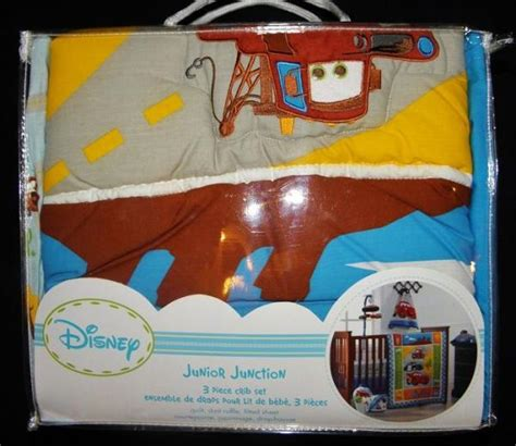 Disney Cars Crib Bedding by New Disney Junior Junction Cars 14 Pc Crib Nursery Bedding