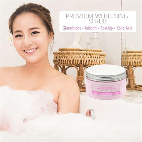 Scrub Arbutin premium whitening scrub with glutathione arbutin rosehip