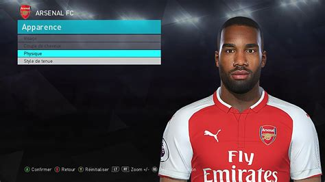 arsenal pes 2018 ultigamerz pes 2018 lacazette arsenal face 2018