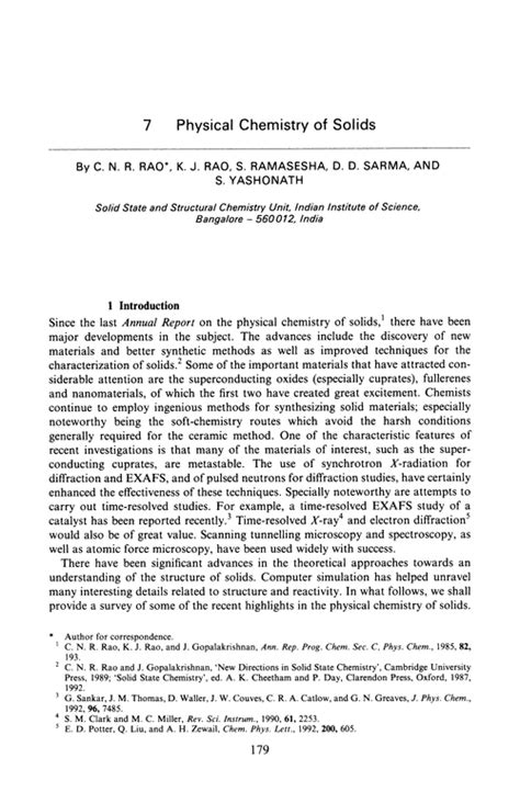 sections of an annual report chapter 7 physical chemistry of solids annual reports