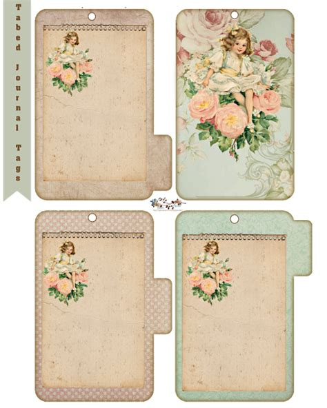 Junk Journal Printables free tabed journal tags do it yourself today