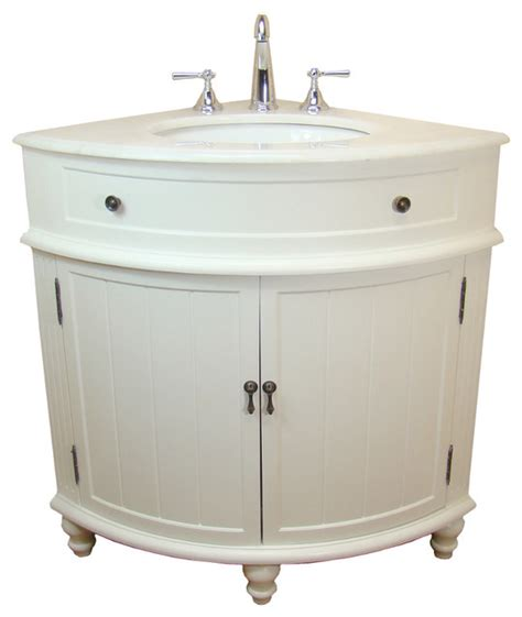 Thomasville Bathroom Vanities 24 Quot Thomasville Corner Sink Bathroom Vanity Cf 47533w Contemporary Bathroom Vanities And