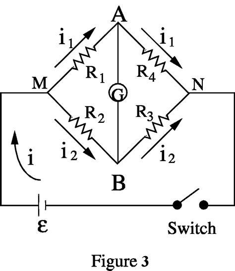 wheatstone bridge in physics galvanometer of wheatstone bridge