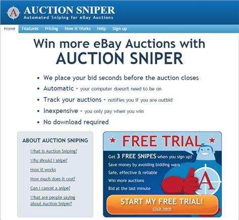 snipe bid ebay auction sniper free free version truegload