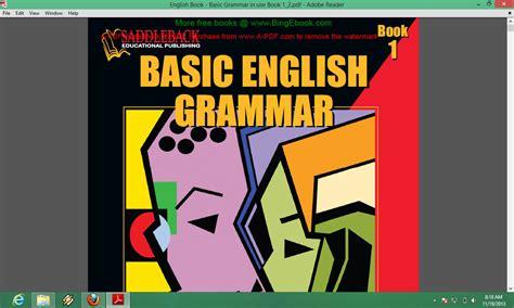 tutorial belajar grammar bahasa inggris buku basic grammar belajar gammar dengan cepat