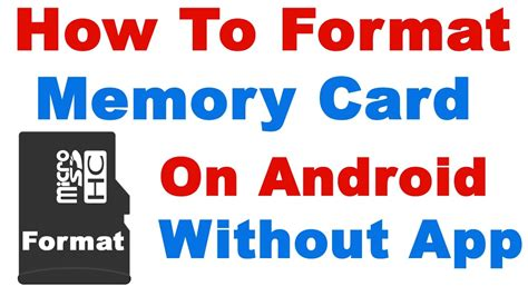 how to format sd card on android how to format memory card on android without any app format sd card android