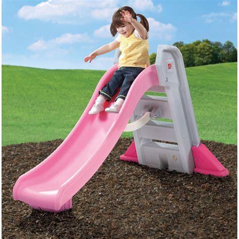 backyard slides big folding slide toddler indoor outdoor plastic backyard play equipment step2 ebay