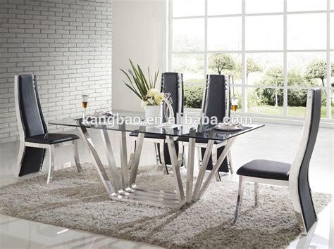 kangbao de cristal mueblesacero inoxidable mesas de