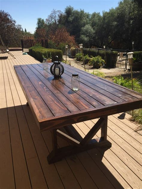 large patio table diy large outdoor dining table outdoor dining backyard
