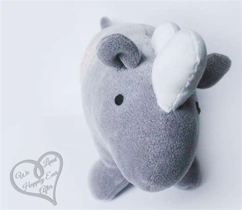 felt rhino pattern we lived happily ever after diy stuffed animal rhino