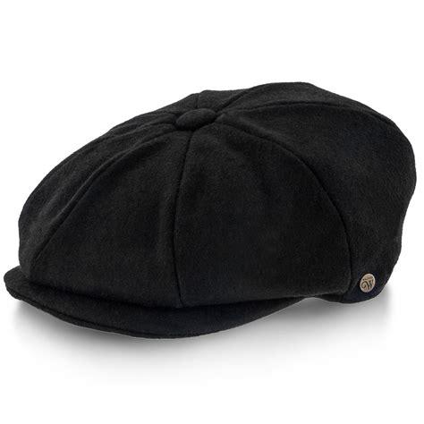 Topi Newsboy Cap shelby walrus hats wool blend 8 panel newsboy cap