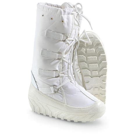 new s italian surplus alpine boots white