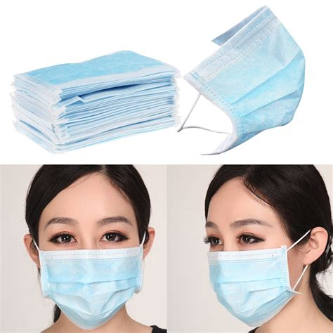 Masker Disposable 50pcs 3 ply ear loop disposable surgical flu