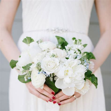 All Wedding Flowers by All White Wedding Bouquets Brides