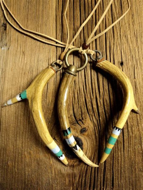 how to make antler jewelry deer antler necklace tribal