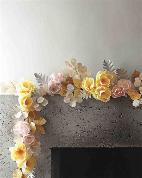 How To Make A Paper Flower Garland - how to make paper flowers martha stewart weddings