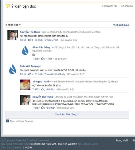facebook comment section block facebook comment box nukeviet store
