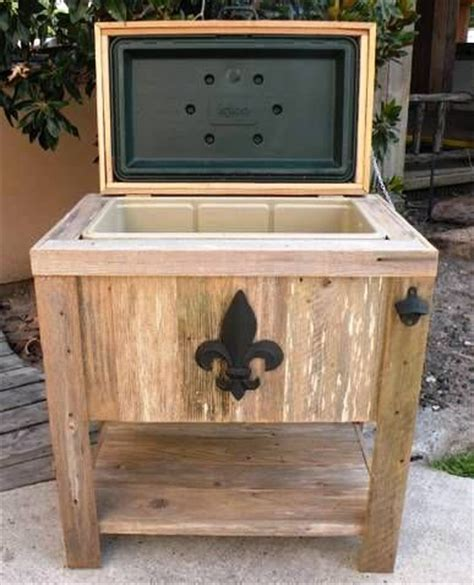 backyard ice chest new hand made weathered wood outdoor igloo ice chest w