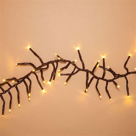 warm white garland 10 ft brown wire led garland lights warm white