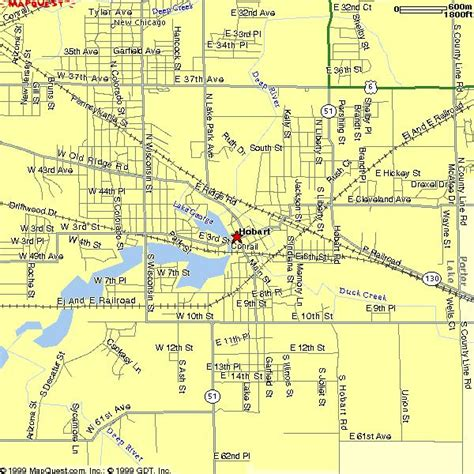 map of hobart city hobart indiana