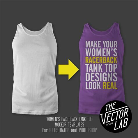 free girl in tank top mock up psd for design branding