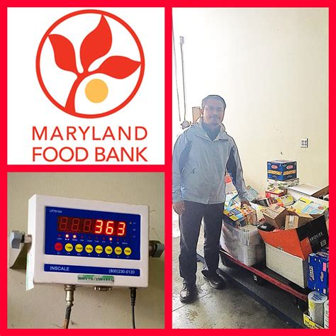 b r donates 350 pounds of food to the maryland food bank