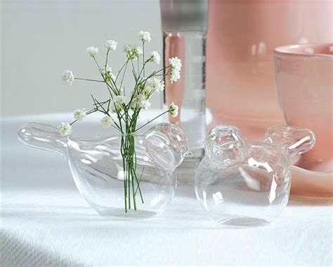 Glass Vases For Wedding Table Decorations by Glass Wedding Dove Vases Table Decoration Ideas