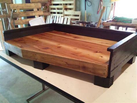 diy pallet dog bed cedar pallet dog bed different furniture idea