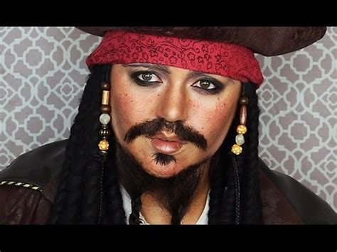 tutorial makeup jack sparrow captain jack sparrow makeup tutorial youtube