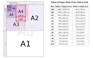 What Size Is A4 Paper Folded In Half - pin by consolidated studios on sizes dimension how big
