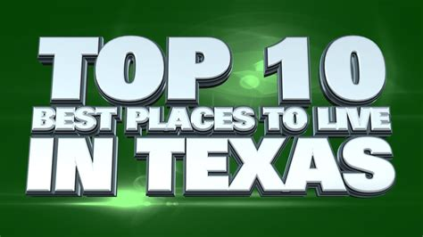 10 best places to live in texas 2014 youtube