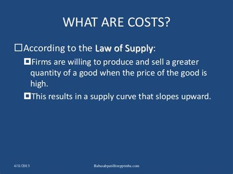 Of Louisiana At Mba Cost by The Costs Of Production Ppt Mba Finance Cost Accountancy