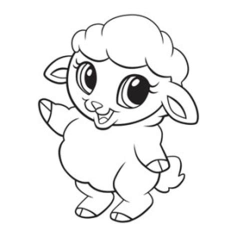 cute lamb coloring pages cute lamb coloring easy coloring pages