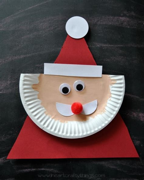 Santa Paper Plate Craft - paper plate santa claus i crafty things