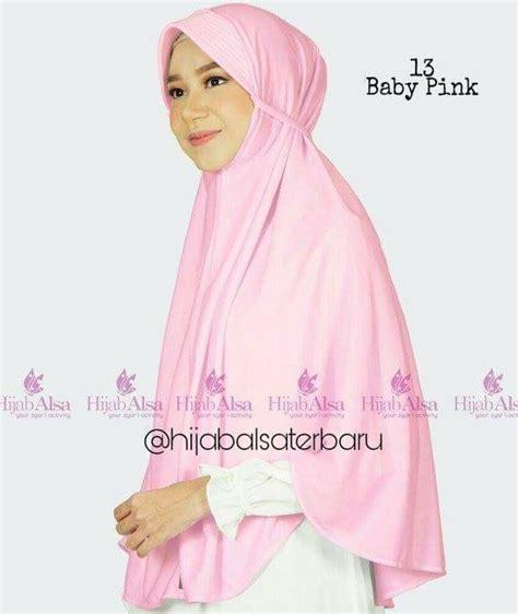 Bergo Kalila by Jilbab Alsa Bergo Kalila Baby Pink Indogamis
